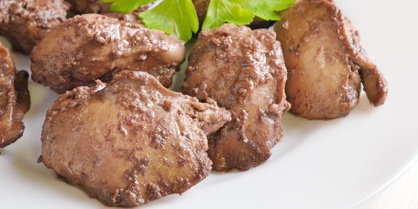 Chicken liver boiled