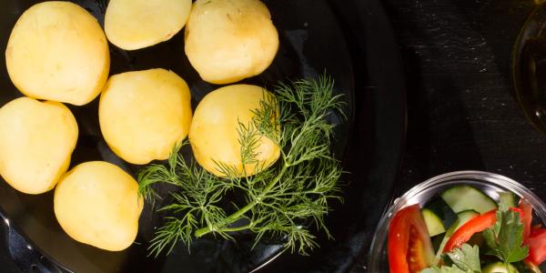 Potatoes boiled