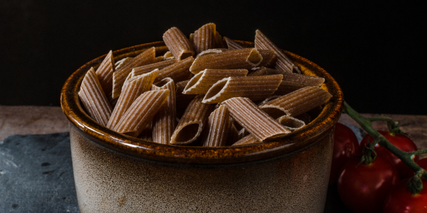 Pasta 100% whole wheat cooked