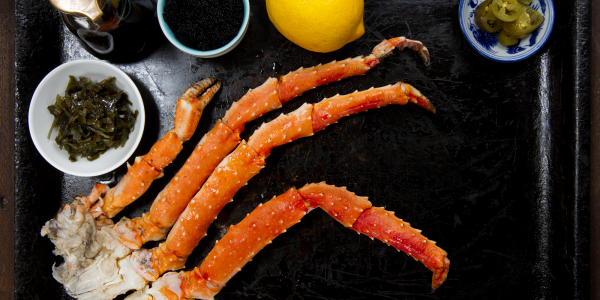 King crab cooked