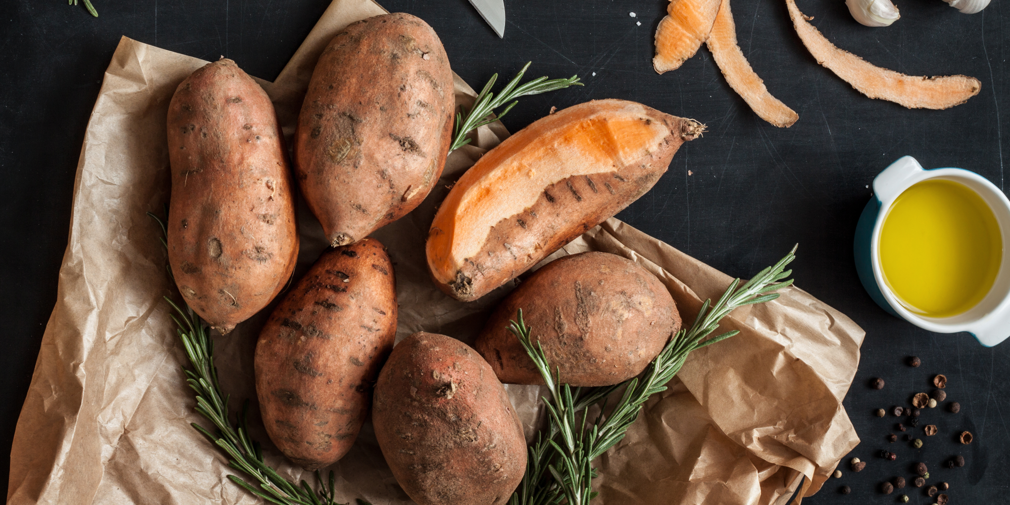 Sweet potatoes boiled