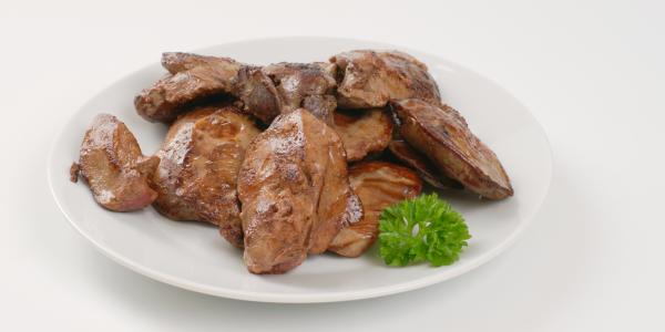 Turkey liver boiled