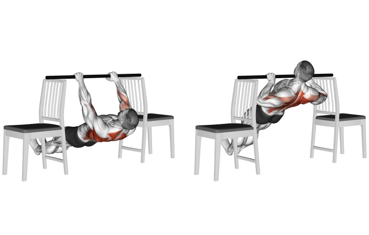 Inverted Row Between Chairs