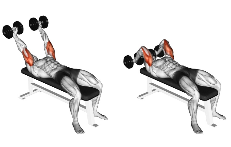 Dumbbell Pronate-grip Triceps Extension
