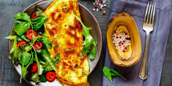 Chicken eggs omelette