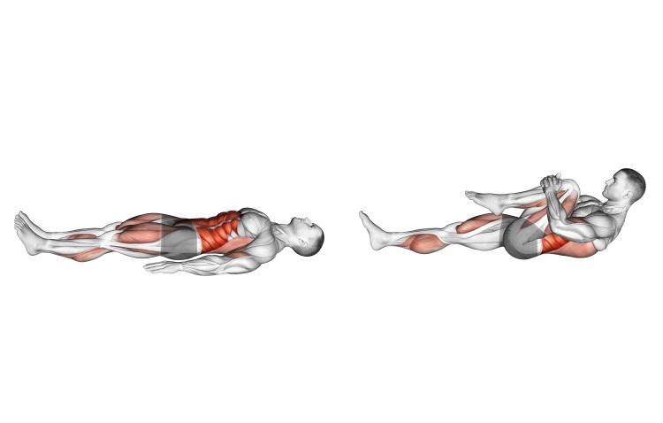 Stretching - Single Leg Stretch (bent knee)