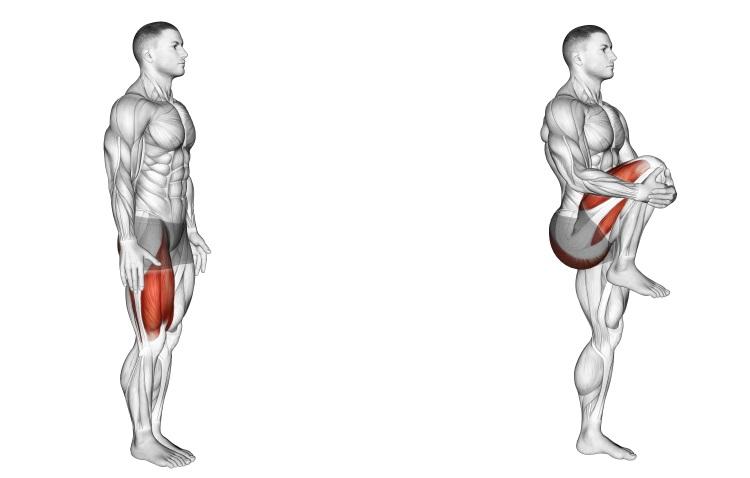 Stretching - Knee Raise