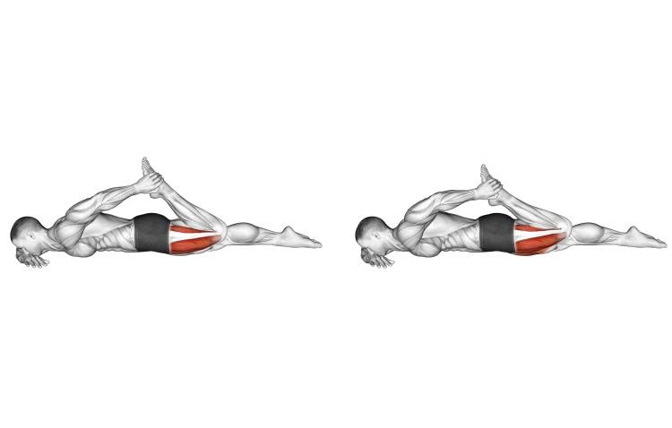 Stretching - Quadriceps lying stretch