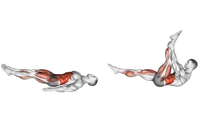 Stretching - Single Straight Leg Stretch