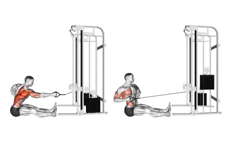 Cable One Arm Twisting Seated Row